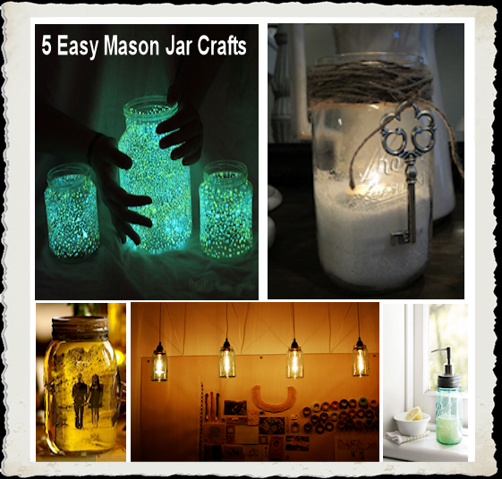 5 Stunning Mason Jar Crafts