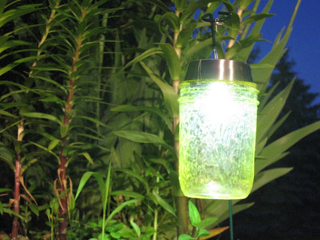 Solar lights made from mason jars