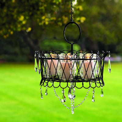 DIY Outdoor Mason Jar Candle Chandelier