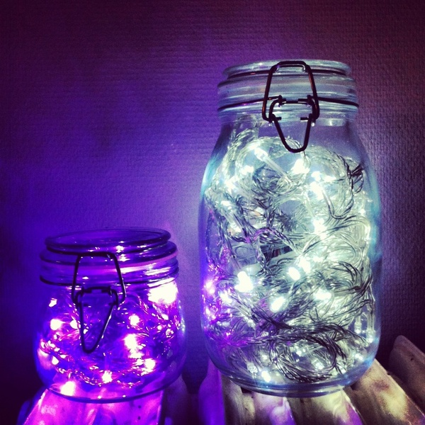 Battery Powered Lights Inside Mason Jars
