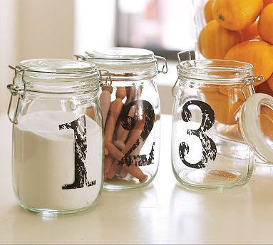 Table Number Mason Jars
