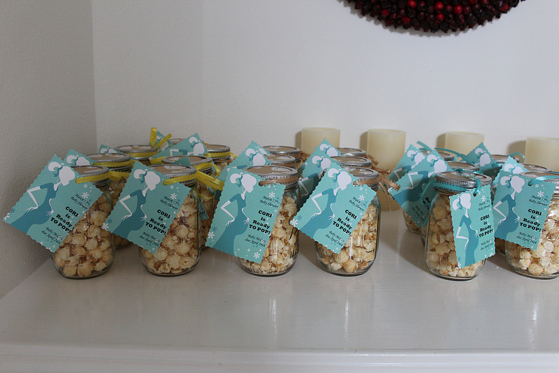 Mason Jar & Popcorn Baby Shower Favors