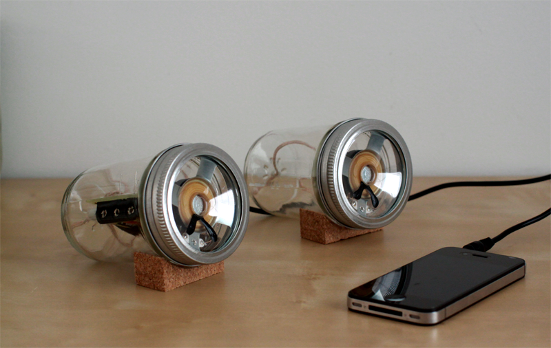 Mason Jar Speakers