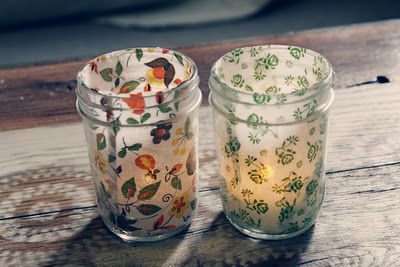 Mason Jar Tea Light Candle Holder