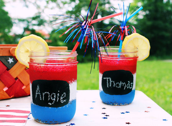 4th of july mason jar glasses