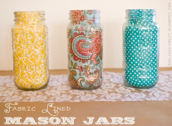 Fabric Lined Mason Jars
