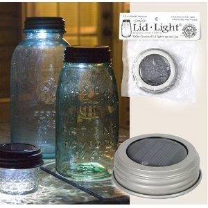 Mason Jar lid with a solar light