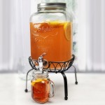 Mason Jar beverage dispenser and stand