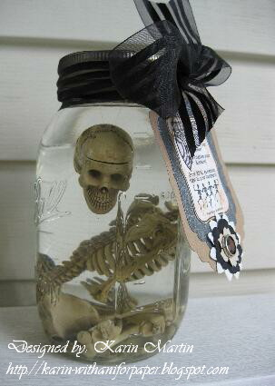 Spooky Halloween Skeleton Mason Jar