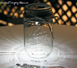 Solar Powered Mason Jar Luminaries