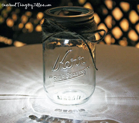 Mason Jar Luminaries – Solar Powered