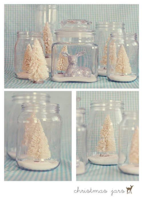 Pretty Christmas Jars