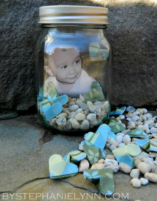 Mason Jar Valentine Photo Gift