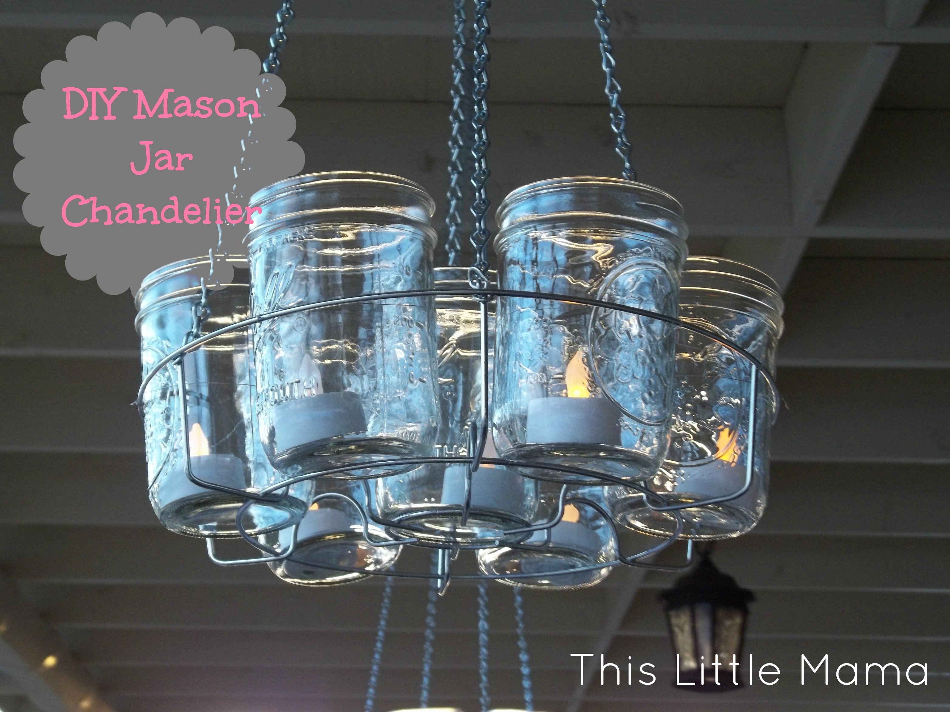Homemade Mason Jar Light