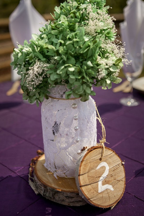Beautiful Mason Jar Wedding Centerpiece - a Mason Jar Wedding