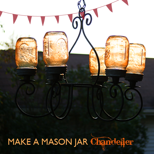 Mason Jar Craft – Chandelier