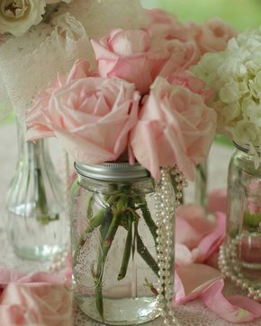 Mason Jar Wedding Centerpiece