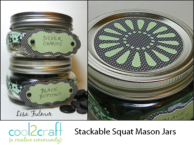 Squat Mason Jar Containers