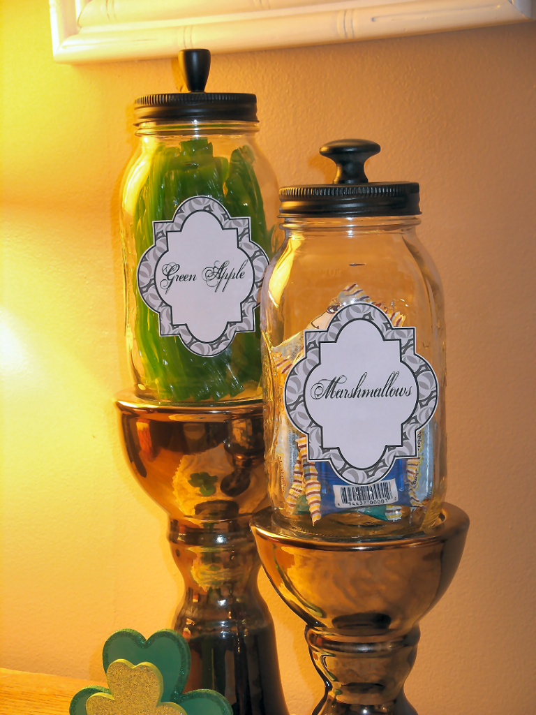 Mason Jar Candy Jars