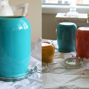 Deliciously Beautiful Painted Mason Jars