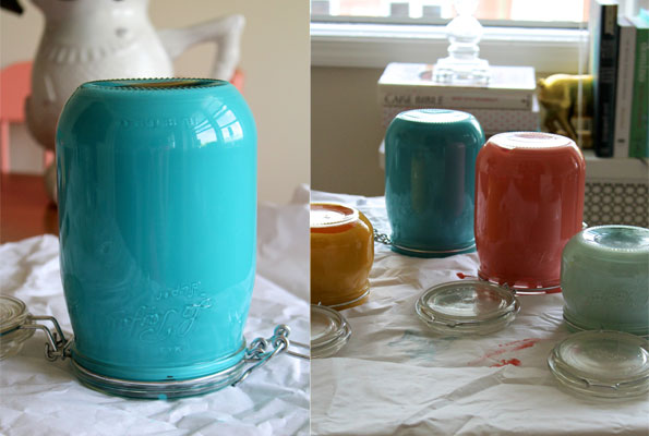 Deliciously Beautiful Painted Mason Jars