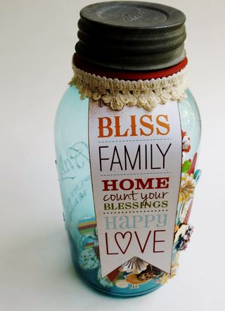 Jar Full of Blessings – Altered Mason Jar Craft