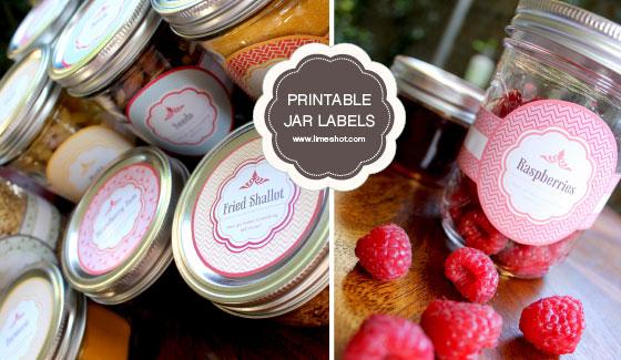 free printable jar labels