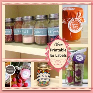 5 Sets of Super Cute (FREE) Printable Jar Labels