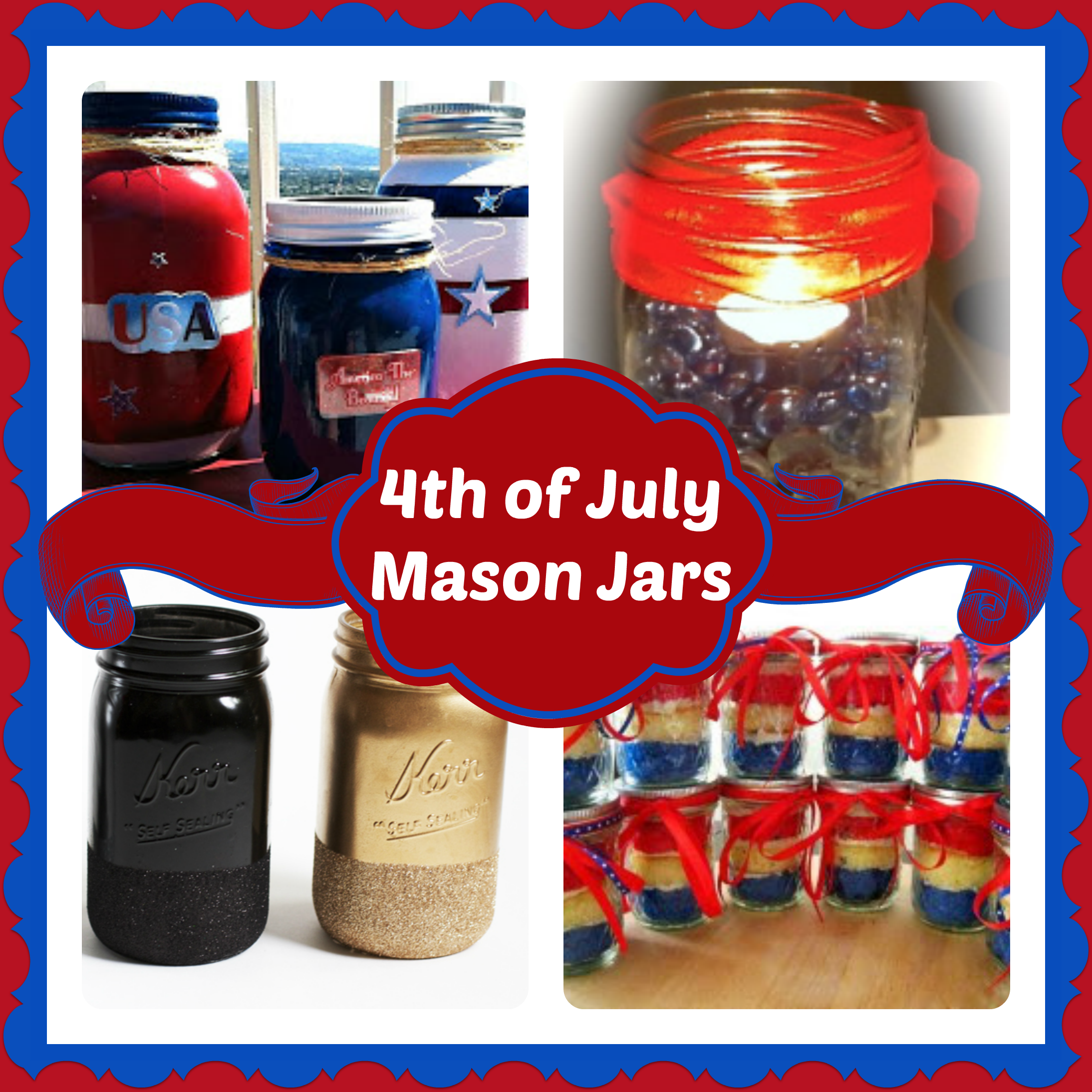 4th of July Mason Jar Crafts