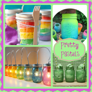 Pretty in Pastel – Mason Jar Crafts