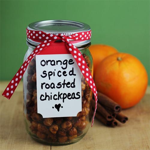 orange mason jars