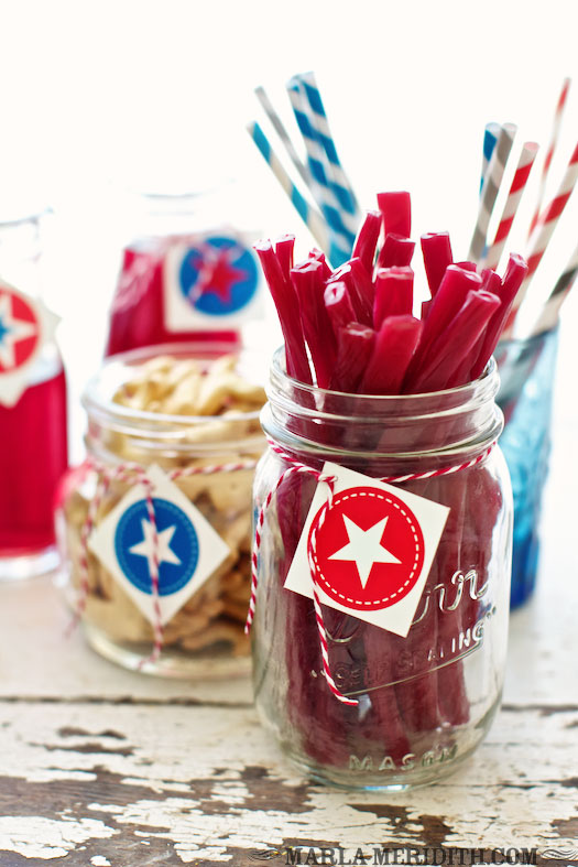 4th july mason jars