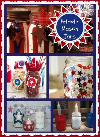 4th of july mason jars