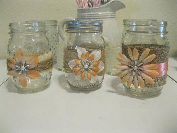 bling mason jars
