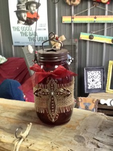 mason jar cross