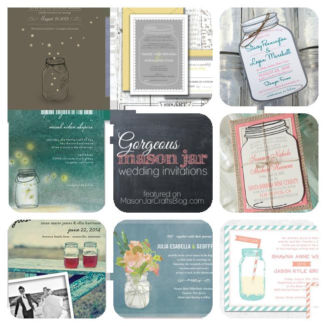 8 {Gorgeous} Mason Jar Wedding Invitations
