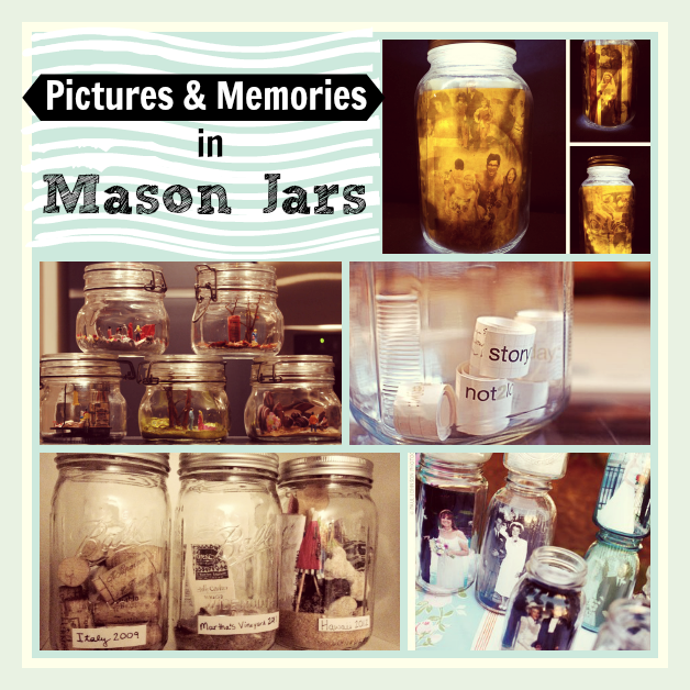 pictures in mason jars