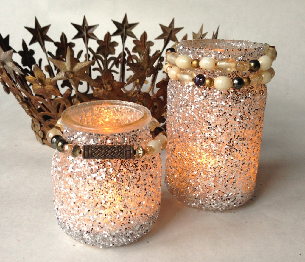 sparkle mason jars