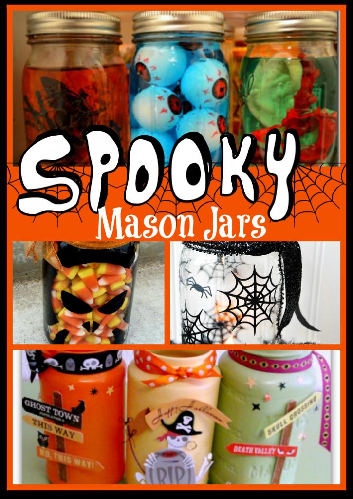 Spooky Halloween Mason Jars