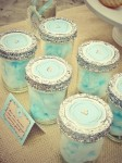 cotton candy in mason jars