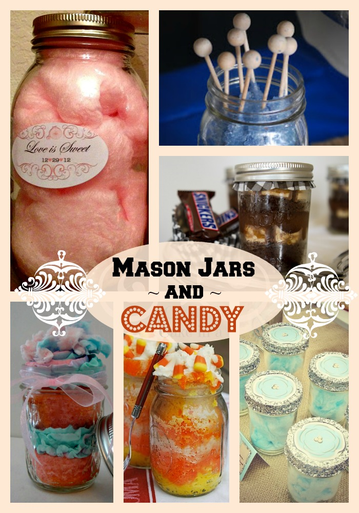 mason jars and candy
