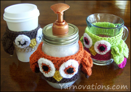 How to make a cute owl cozy for your Mason Jars!