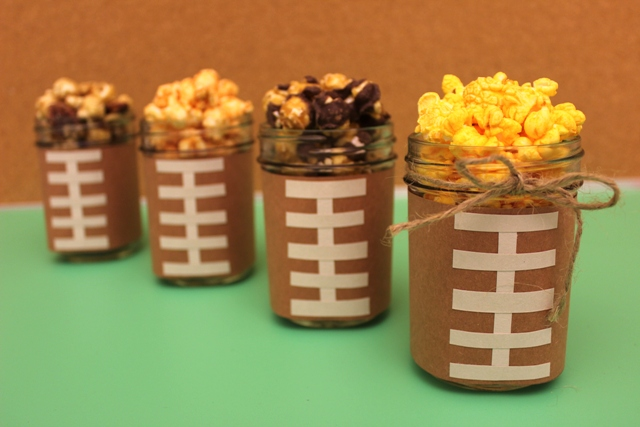 Awesome ideas for Super Bowl Sunday parties using jars!  www.Momcaster.com