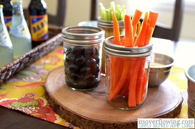 Get ready for Super Bowl Sunday! (Using Mason Jars, of course!) www.Momcaster.com
