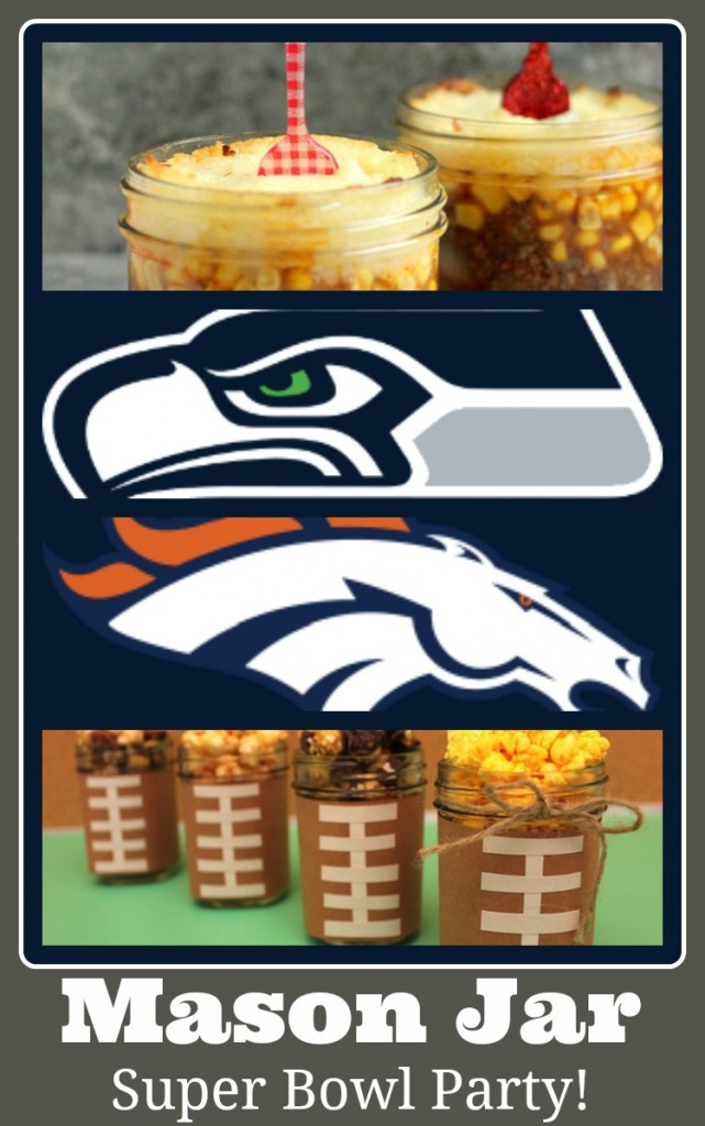 Super Bowl party ideas - with Mason Jars. FUN!