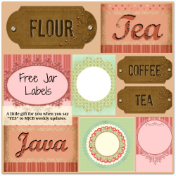 free mason jar labels
