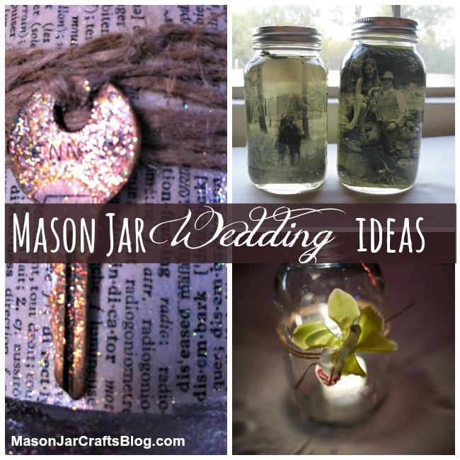 Mason Jar wedding ideas shared on MasonJarCraftsBlog.com.