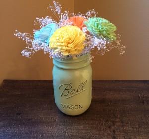 Beautiful Mason Jar centerpiece