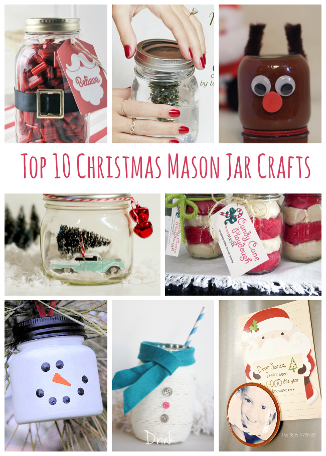 These Christmas Mason Jar crafts are so stinking adorable! Love these bloggers. <3