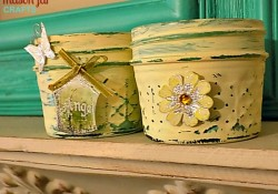 Mason Jars: Painted, Distressed, Embellished
